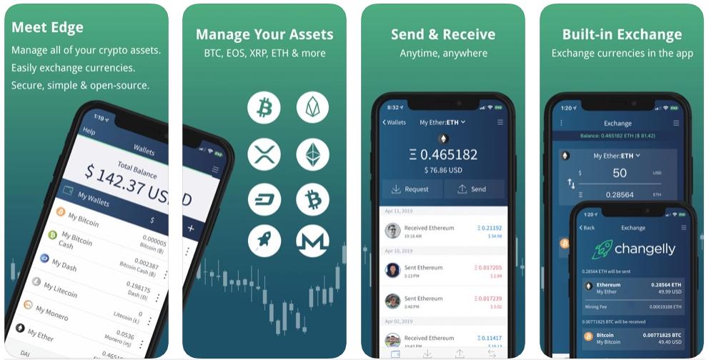 Edge Wallet Monero per Android e iOS
