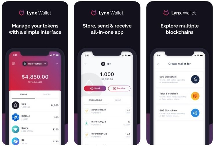 EOS Lynx Mobile Wallet
