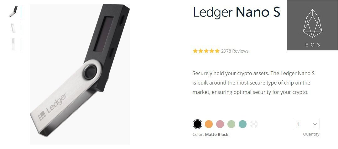 Ledger Nano S, EOS Wallet