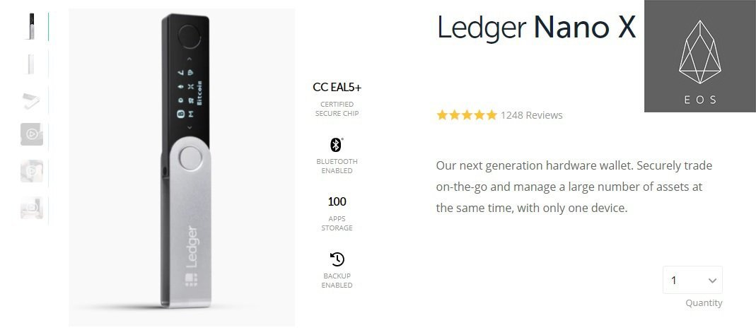 Ledger Nano X, EOS Wallet