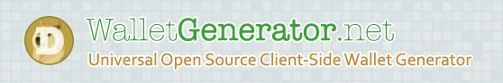 Dogecoin Paper Wallet Generator