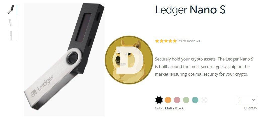 Ledger Nano S Dogecoin Wallet