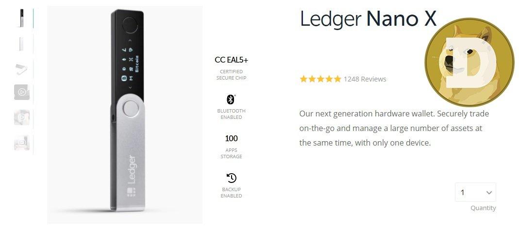 Ledger Nano X Dogecoin Wallet