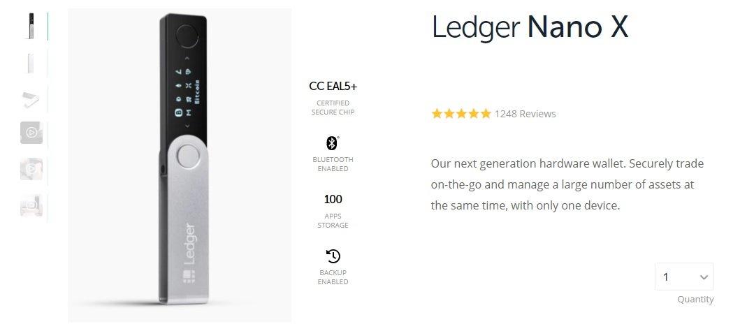 Ledger Nano X, Migliori Hardware Wallet