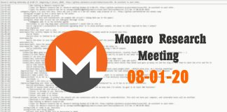 Monero Research Meeting 08-01-20