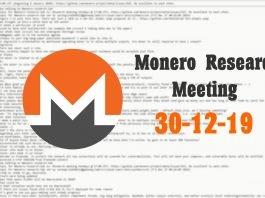 Monero Research Meeting 30-12-19